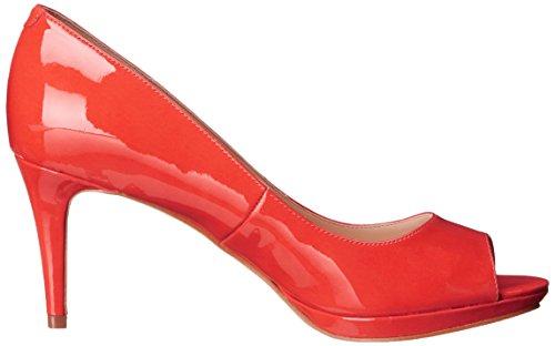 Nine West Gelabelle Pompe Robe synthétique Red/Orange