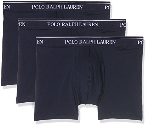 Polo Ralph Lauren Herren Boxer Brief Boxershorts, Blau (3Pk Cr NVY 001), Medium (3erPack)