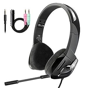 Kopfhörer Kinder, Beexcellent Kopfhörer für Kinder mit 85 dB Super licht und Lautstärkeregler Sicherheit Abnehmbares Mikrofon Gaming Headset for PS4 Xbox ONE Tablet Ipad Smartphone