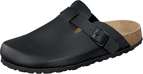 Hausschuhe Herren Damen Gr. 44 Schwarz Schuh Herrenschuh Pantolette Markenschuh Slipper Clogs Betula Pantoffeln Schlappen 35 36 37 38 39 40 41 42 43 44 45 46 47 48