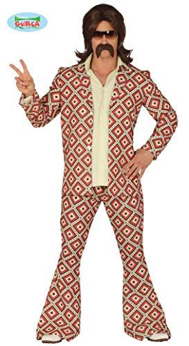 Costume disco anni 70 hippie uomo adulto taglia M 48 50