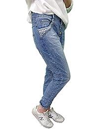 8d9bf087d9a658 Karostar by Lexxury Denim Stretch Baggy-Boyfriend-Jeans Boyfriend 4 Knöpfe  offene Knopfleiste weitere