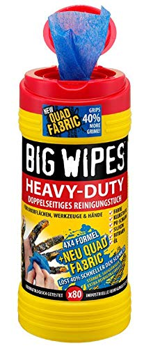 BIG WIPES HEAVY-DUTY Doppelseitige Reinigungstücher 80 Stück -