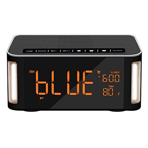 HEDDK inalámbrico Altavoz Bluetooth Reloj Despertador