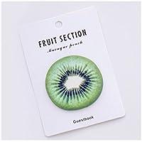 Huyizhi Creativo Nota pegajosa con sabor a fruta creativa para la nota de mensaje Cuaderno de Kiwi Pattern (verde) para sus suministros officce