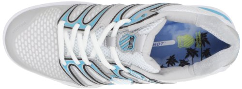 K-Swiss Bigshot, Chaussures tennis terrain dur femme, Blanc/Or/Argent Blanc (White/Blue/Gray)
