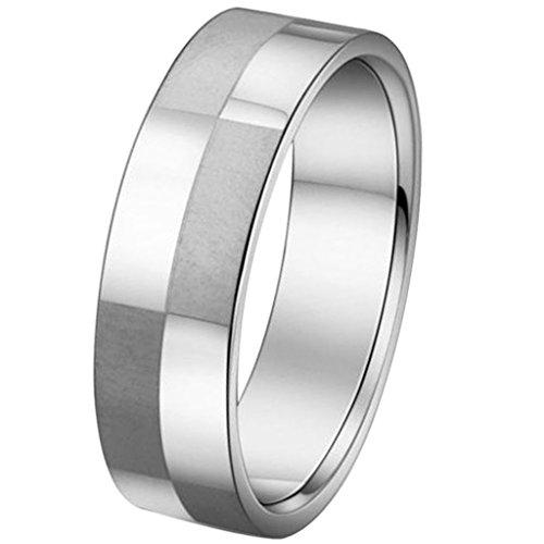 Aooaz Schmuck Unisex Ring,Klassische Edelstahl Ehering Verlobungsringe Silber
