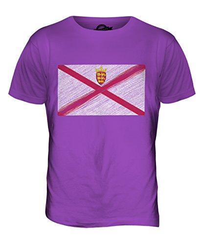 CandyMix Jersey Kritzelte Flagge Herren T Shirt Violett
