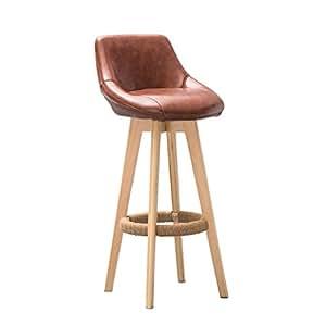 YAnFAn Amp Chairs Modern Concise Retro Bar Chair Bar Stool Hemp Rope ArmchairSolid Wood High