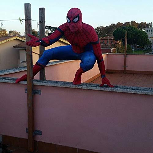 Kostüm Superhelden Xxl - Spiderman Kostüm Kind Erwachsener Cosplay Kostüm Superhelden Halloween Mottoparty Onesies 3D Druck Spandex Strumpfhosen,Child-XXL(140-150cm)