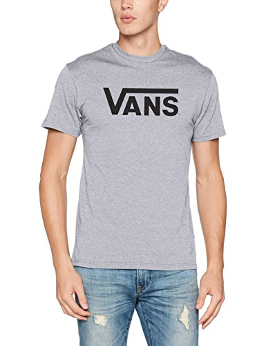 Vans Herren T-Shirt Classic, Grau (Athletic Heather/Black), Large