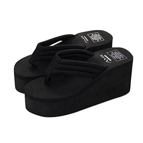 VJGOAL Damen Zehentrenner, Damen Mädchen Mode Sommer Slipsole -