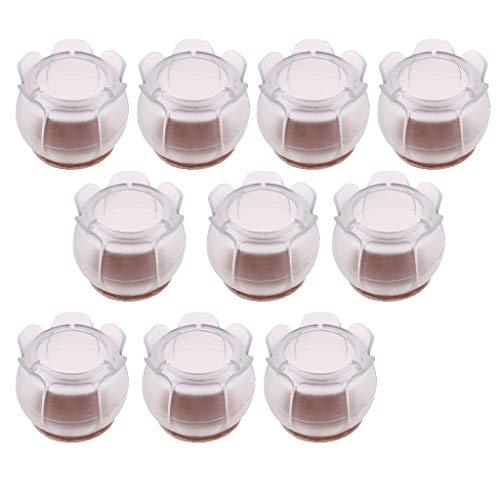 10 Stück Silikon Tischbeinkappe Möbel Stuhlbein Kappen Füße Pads - Rundbein 29-35mm