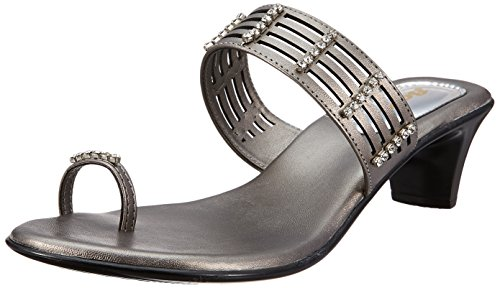 BATA Women's Diamond Toe Ring Silver Fashion Sandals - 5 UK/India (38 EU)(6712981)
