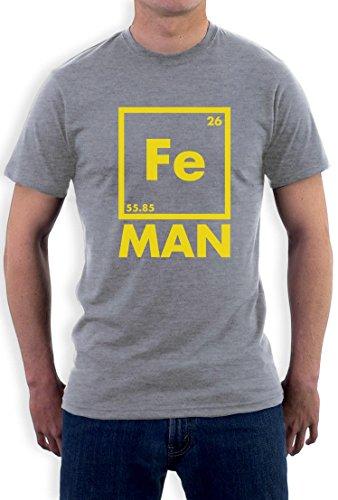 Iron Fe Man - Lustiges Männergeschenk T-Shirt Grau