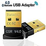 rts Ultra Mini Bluetooth CSR 4.0 USB Dongle Adapter (Black, Golden)
