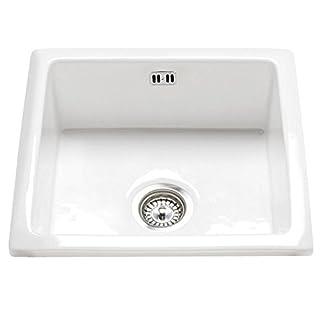 RAK Ceramics Gourmet Sink 6 Inset/Undermount 1.0 Bowl White Ceramic Kitchen Sink