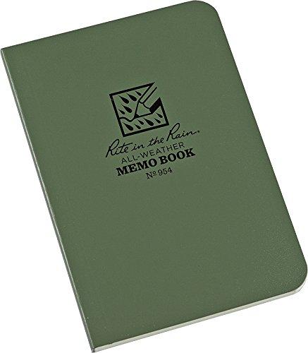 Preisvergleich Produktbild Rite in the Rain Notizblock,  wetterfest (374-m),  Memo Book,  Green / Green