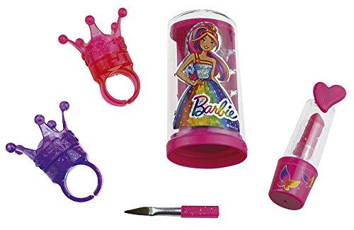 Happy People 52011 Barbie Schmink-Set Krönchen, für Mädchen, Make-Up Zubehör