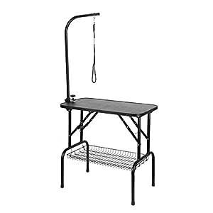Femor Table de toilettage pour chien/chat animaux portable en acier charge 100KG 80.5×46×76cm