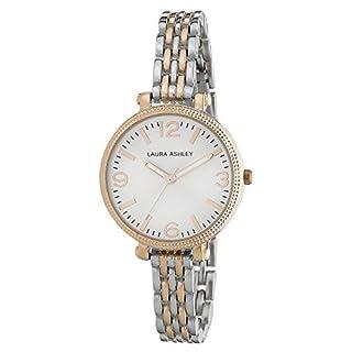 Laura Ashley Damen Analog Quarz Uhr mit Legierung Armband LA31006RG