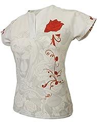 Blanco Olorun Inglaterra Honor Damas Seguidores Rugby Camisa Inglés Rosas 08–22, 08