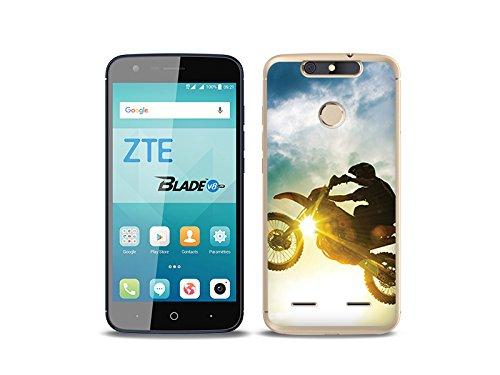 etuo Handyhülle für ZTE Blade V8 Lite - Hülle Foto Case - Motocross - Handyhülle Schutzhülle Etui Case Cover Tasche für Handy