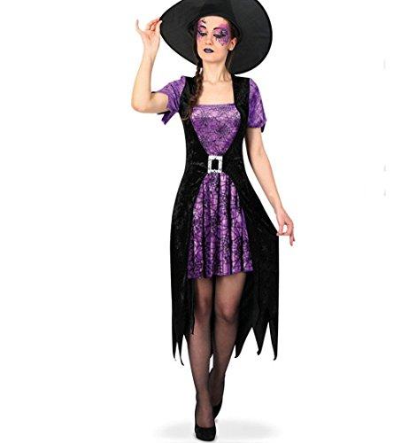 Zauberin Kostüm Sexy - KarnevalsTeufel Damen-Kostüm Hexe Violetta, violett-schwarz, Witch, Zauberin, sexy Kleid, Halloween (38)