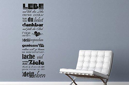 Wandtattoo Wandbanner Lebe deinen Traum Nr 3 Wandsprüche Worte Träumen Leben in 30 Farben von Wandtattoo-bilder Größe 45×143
