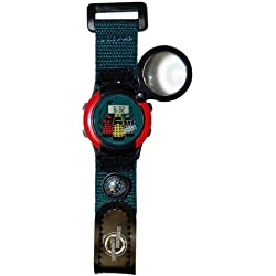 Dr Who Boy's Quartz Watch with LCD Dial Digital Display and Blue Plastic or Pu Strap DR127