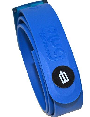 plugbelt & Ball Marker Royal Blue–Ceinturon de Golf pour homme, en silicone, unitalla,...