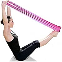 Malloom® Pilates Yoga Workout Aerobics Stretch Band Tensile Band Elastic Band (Purple)