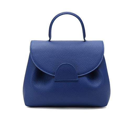 Kleine Ausländische Weibliche Lederhandtasche Erste Schicht Leder Kissen Tasche Handtasche Schulter Diagonale Paket Blau