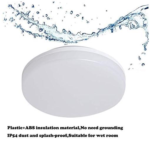 Aogled LED Plafoniera 4000K Bianco Naturale Rotonda Impermeabile IP54 Interno Lampada a Soffitto