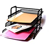 KABEER ART 3 Tier Mesh Document Tray For File Organisation In offices & also at Home