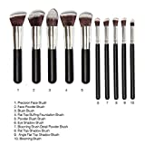 Generic Phenovo Makeup Brushes Set Tool Pro Foundation Eyeliner Eyeshadow (Black)