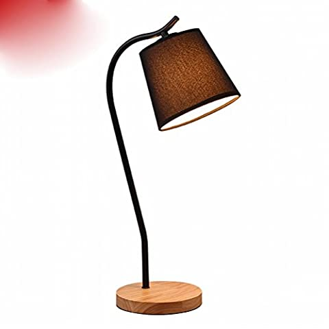 light Creative Tischleuchten Nordic Dormitories Tischlampen Led Augenpflege Lampen College Students Study Bed Nachttischlampen,Schwarz