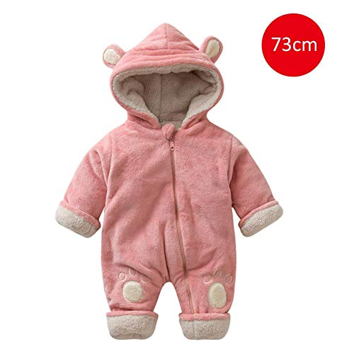 beautygoods Mädchen Boy Hooded Strampler Overall Neugeborenes Baby und Winter Flanell Bunting Outfits Unisex Baby Strampler Winter verdicken Overalls Cartoon