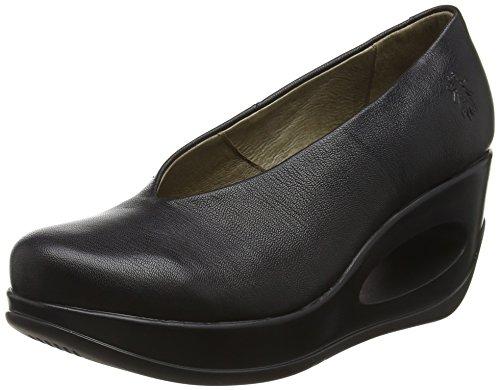FLY London Hyaz924, sandales compensées Femme Noir (Black 000)