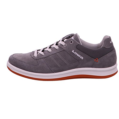 LOWA Herren Sneaker FIRENZE LO 310749-9320 grau/orange, Gr. 41 - 44,5, Leder Grau/Orange