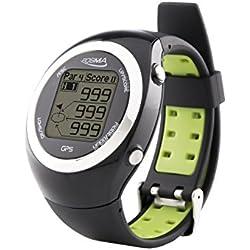 Posma GT2-Reloj de Entrenamiento de Golf con GPS y telémetro, Campos de golf preinstalados sin necesidad de descargas previas ni suscripciones, Negro
