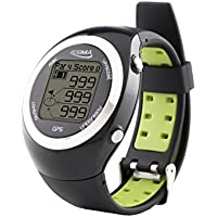 POSMA GT2 Golf Trainer + Activity Tracking GPS Golf Watch Range Finder, Preloaded Golf Courses, no download no subscription, Black. Global courses incl. US, Canada, Europe, Australia, New Zealand, Asia