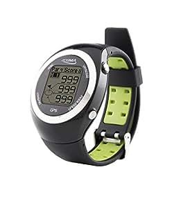 Montre POSMA GT2 à GPS intégré et calcul de distances, circuits de golf pré chargés sans téléchargements et sans abonnement, Canada, Europe, Australie, Nouvelle Zélande, Asie.