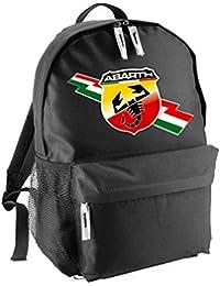 2f2192c9ee Zaino Zainetto 30x35 Logo Abarth 500 Fiat Team Italia Racing Corse Auto  Moto Personalizzata nero ZA06