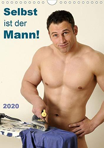 Selbst ist der Mann! (Wandkalender 2020 DIN A4 hoch): 12 nackte Männer bei Hobby und Haushalt (Monatskalender, 14 Seiten ) (CALVENDO Menschen)