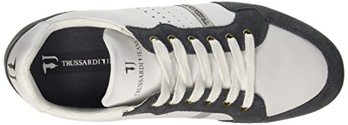 Trussardi Jeans 77s05849, Baskets Homme Multicolore (115 B.Co/Grigio)