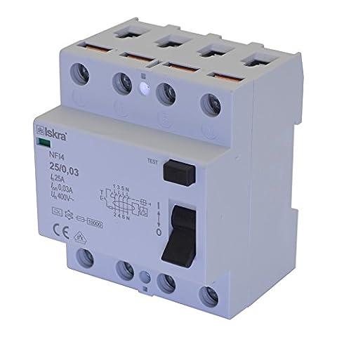 Interrupteur 4 Poles - Interrupteur fi de protection Interrupteur différentiel installations