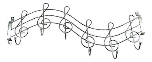 Garderobe Notenschlüssel, Noten originelle Wandhaken für Musiker, Wandgarderobe in Form eines Notenschlüssels