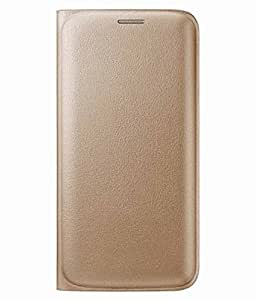Synthetic leather Wallet Magnet Design Flip Case Cover for Samsung Galaxy J1 ACE - Golden
