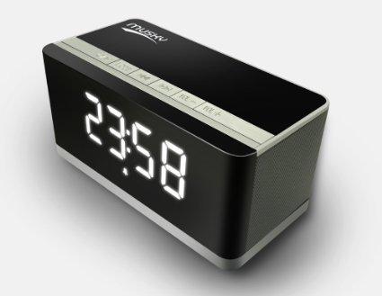 Altavoz Portátil Bluetooth, con visualización LED, Altavoz manos libres, Radio FM, Reloj...